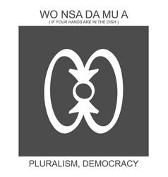 African adinkra symbol wo nsa da mu vector
