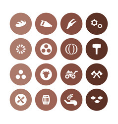 agriculture farm icons universal set for web and vector image