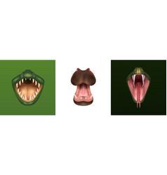 Animal mouth design concept vector
