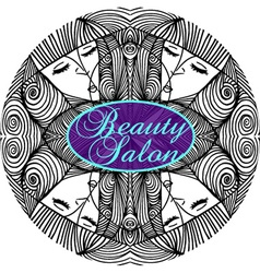 Beauty Salon Cover with Abstract beautiful woman vector