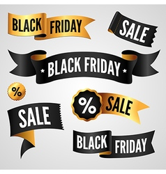 Black Friday set vector image