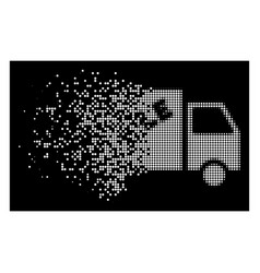 bright dissipated dot halftone sale van icon vector image