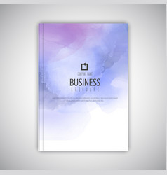 Business brochure with watercolour texture vector