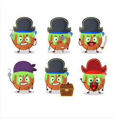 Cartoon character choco green candy with vector