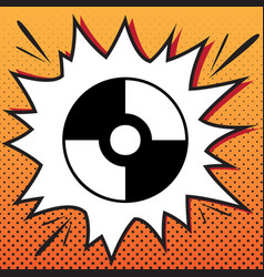 cd or dvd sign comics style icon on pop vector image