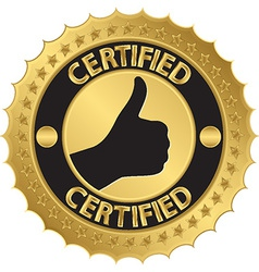 Certified golden label vector image