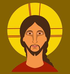 Christ pantocrator vector