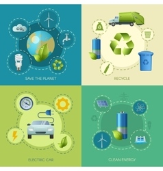 Clean energy square composition vector