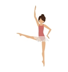 colorful dancer fourth position developed vector image