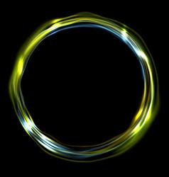 Colorful glossy iridescent ring circle vector