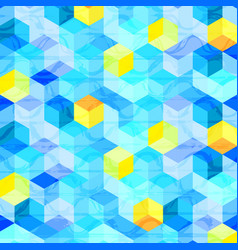 Colorful hexagonal shape abstract background vector