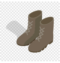 combat military boots isometric icon vector image
