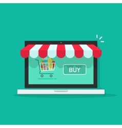 Concept of online shop e-commerce internet store vector image vector image