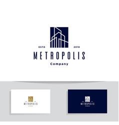 construction architect logo design icon ele vector image