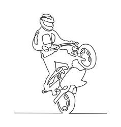 continuous one line drawing of a sportsman vector image