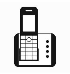 Cordless phone icon simple style vector image