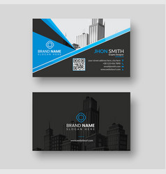 corporate business card template vector image