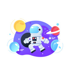 Cosmonaut in space vector