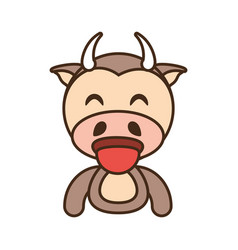 Cow baby animal funny image vector