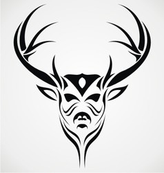Deer Head Tattoo Design vector image