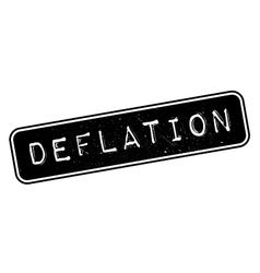 Deflation rubber stamp vector image
