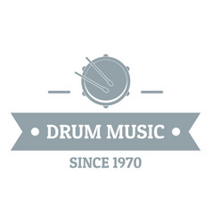 Drum music logo simple gray style vector