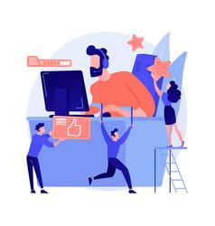 esport fans abstract concept vector image