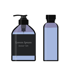 essential oil bottle spray soap pump flacon vector image
