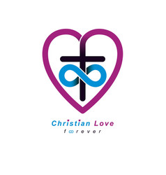 everlasting christian love and true belief in god vector image