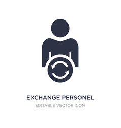 Exchange personel icon on white background simple vector