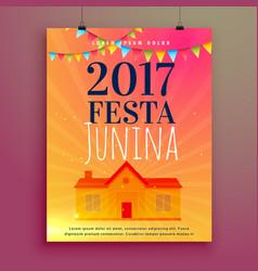 Festa junina invitation card flyer design vector