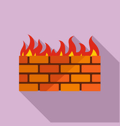 firewall icon flat style vector image