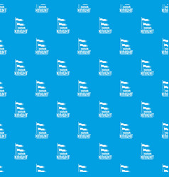 flag knight pattern seamless blue vector image