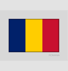 Flag of romania national ensign aspect ratio 2 to vector
