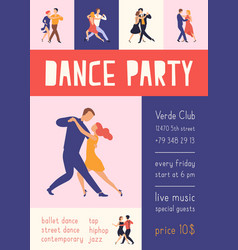 flyer or poster template with elegant people vector image