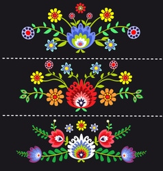 Folk Pattern Flowers-1 vector
