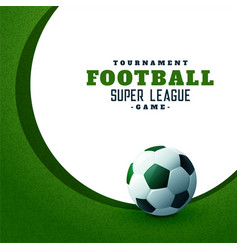 football sports championship green background vector image