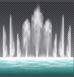 fountain realistic transparent vector image