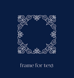frame for text vector image