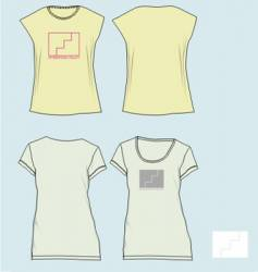 Girl tees vector