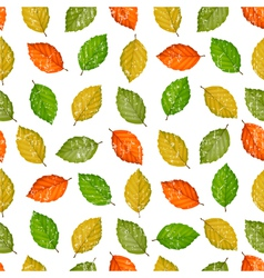 Grunge seamless pattern with colored leaves vector image vector image