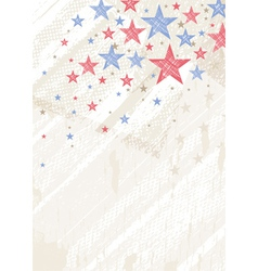 grunge usa background with stars vector image