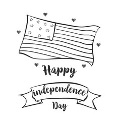 Hand draw independence day collection vector