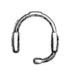 Headset device icon vector