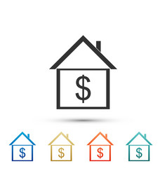 house with dollar home and money real estate vector image