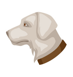 Icon dog head vector