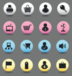 icons of sales vector image
