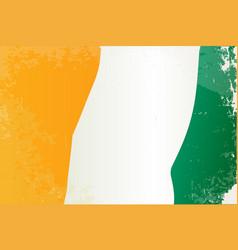 Ivory coast flag grunge vector