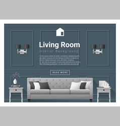 Living room Interior background 5 vector image