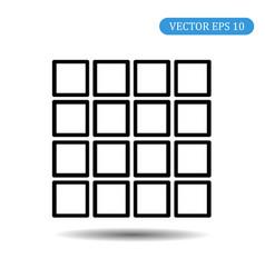 menu icon flat style eps 10 vector image